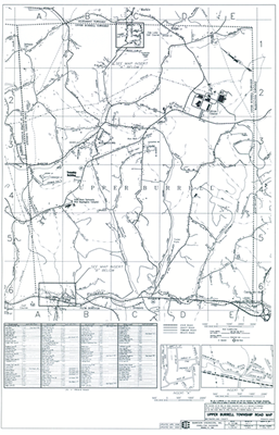 Upper Burrell Township Road Map